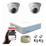 Cámaras De Seguridad Kit Cctv Hikvision Mini Dvr 4c + 2 Cám.