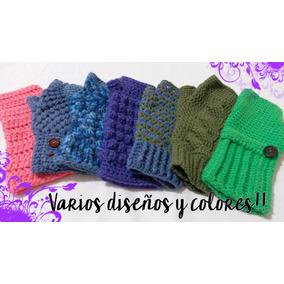 Guantes Mitones Tejidos A Crochet Artesanales