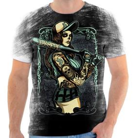 eef2adba9745c Camisa Camiseta Personalizada Caveira Mexicana Baseball