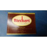 Antigua Etiqueta Cerveza Bieckert Africana Doble Negra 675
