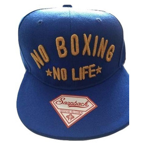 Gorra Canelo Alvarez No Boxing No Life Azul Snapback Boxeo