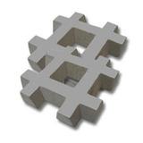 Bloques De Cemento Para Cesped 33x33x6 Por Unidad