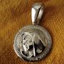 D143 Dije Medalla Virgen Del Cerro Salta Plata 925