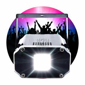 Flash Led Audioritmico 10w Blanco Dj Fiestas Boliche Strobe