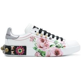 Sapato Tênis Dolce & Gabbana Farfalle Rosa Feminino Importad