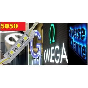 Tira Modulo Led 5050 Con Recubrimiento 3 Leds Foco Anuncios