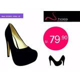 Zapatos Taco Plataforma 9 Fiesta Calzado Para Dama Mujer