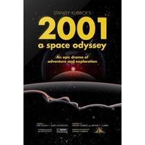 Cartel Antiguo Poster 60x40cm 2001 Odisea Espacio Fi-089