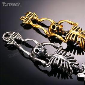 Pulseira Masculina Esqueleto Aço Inoxidável
