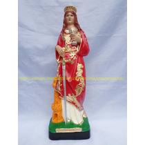 Imagem Santa Barbara Escultura 40cm Estatua Brilhante Ouro