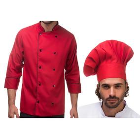 Kit Dolma + Chapeu Chef Gastronomia Gourmet Cozinha Bordado