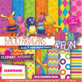 Kit Imprimible Backyardigans Pack Fondos Digitales Cliparts