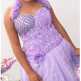 Vestido De Debutante Curto Lilás
