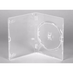 10 Estojos Capa Box Transparente Para Dvd Cd