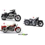 Kit 3 Motos Miniatura Harley-davidson 1:18 Maisto