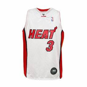 Camiseta Nba Miami Heat Basquet Oficial Wade Basket