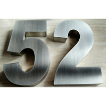 Números Residenciais De 15cm Em Aço Inox Escovado