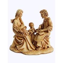 Imagem Sagrada Familia (sentada) 17x19 Em Resina~codigo 105