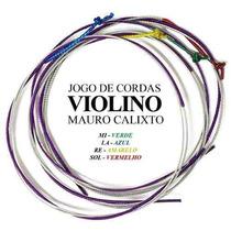 Jogo De Corda Violino 4/4 Mauro Calixto Excelente Cordas***