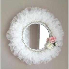 Espejos con marco artesanal en bs as g b a oeste en for Marcos decorados para espejos