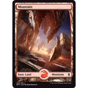 28 Montanhas, Terreno Full Art Battle For Zendikar Magic Mtg