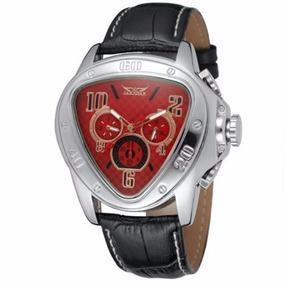 Relógio Masculino Jaragar Automático Couro Frete Grátis