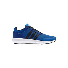 Tenis Casual Urbano adidas Cf Race J58813 Azul Niños