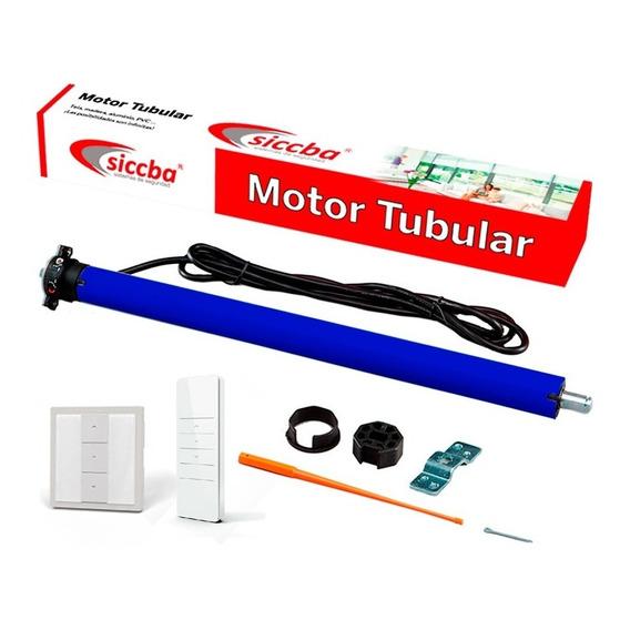 Motor Tubular Persiana 21 Kg Tecla De Pared Y Control Remoto