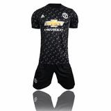 Camisa Manchester Preto Kits 17/18 Pronto Entra