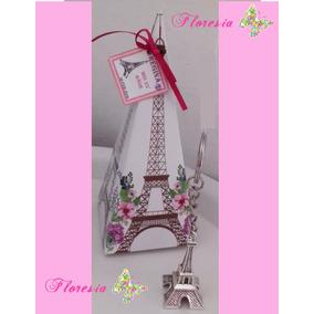 Llavero Torre Eiffel Caja Y Tarjeta Personalizada Xv Años