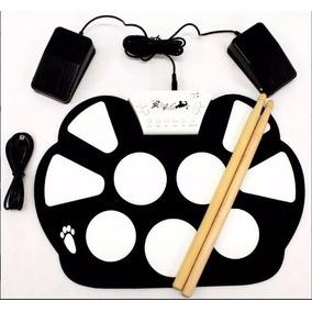 Bateria Eletrônica Com Baqueta Roll-up Drum Kit W-758 -