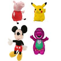 Peluches Pikachu, Mickey 35 Cm, Peppa Pig, Barney,