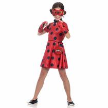 Fantasia Miraculous Ladybug Vestido Sulamericana Tamanho M