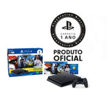 Console Playstation 4 Ps4 Slim 500gb Hits Bundle + 4 Jogos