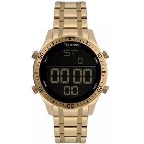Relógios Masculinos Technos Racer Aço Dourado C  N F + Garan. R  370 30 2dad35bd6a