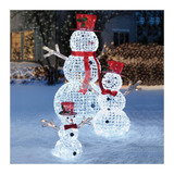 Adorno Navidad Set De Muñecos De Nieve Para Exterior 400 Led