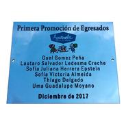 Placa Grabada, Metal, Personalizada. Mencion Homenaje. 30x20