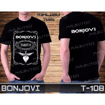 Bonjovi Guns N Roses Beatles Metallica Rock Camiseta Preta