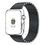Pulseira Ibands Aço Elos Fecho Borboleta Para Apple Watch