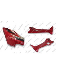 Kit Carenagem Vermelha Shineray Phoenix Gold 5 Peças