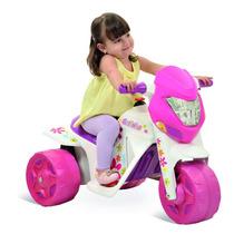 Moto Elétrica Infantil Bandeirante Cross 6v Gatinha Rosa