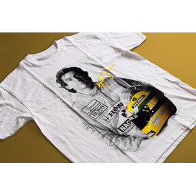 Camiseta Camisa Ayrton Senna Promoção