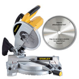 Sierra Ingletadora Stanley Stsm1525 2hp + Hoja Aluminio 250