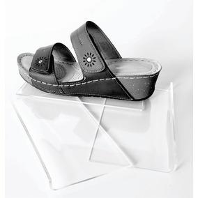 Exhibidor Calzado Zapatos Para Panel Ranurado Acrílico Crist