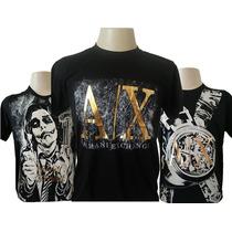 Camisa Camiseta Armani Exchange Lançamento Brilho Dourado