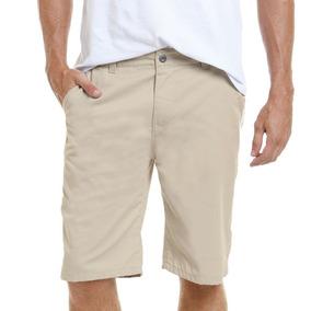 Bermuda Shorts Jeans E Sarja Masculino Bege Vermelho Preta