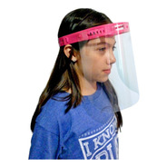Careta Facial Protectora Para Niño Transparente Niños 5 Pzas