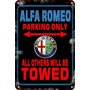 Carteles De Chapa 60x40 Parking Only Us Alfa Romeo Pa-103