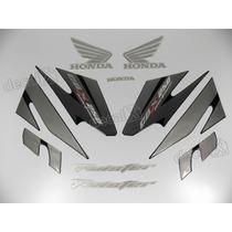 Kit Adesivos Cbx Twister 250 2007 Preta - Resinado - Decalx