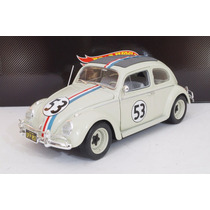 Vw Herbie Cupido Motorizado Escala 1:18 Hot Wheels